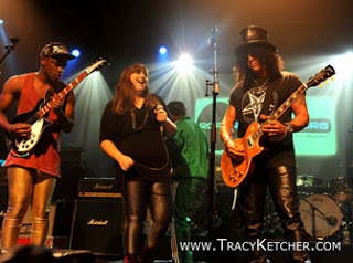 Working with Slash for Road Recovery's 10th anniversary show