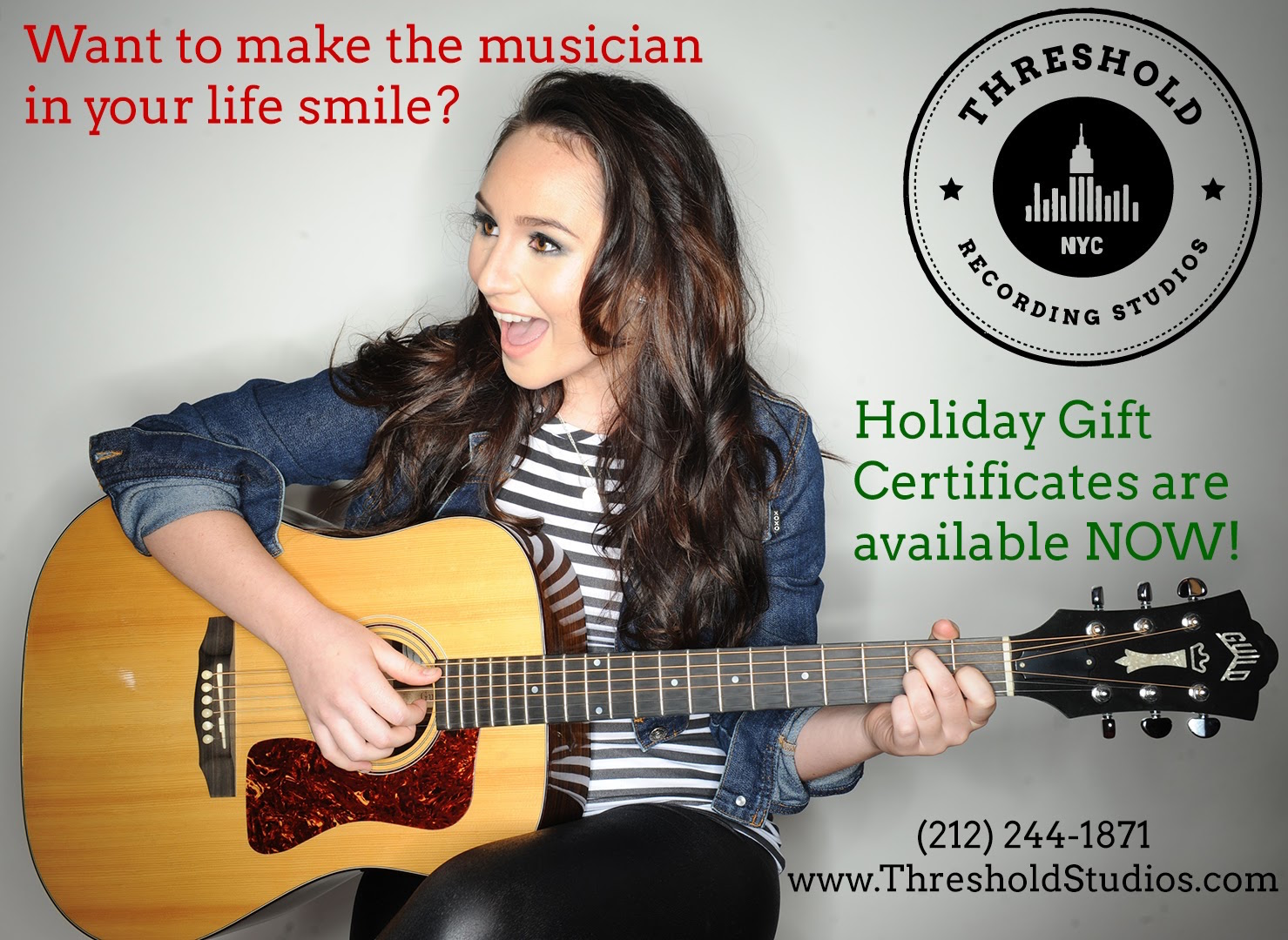 2017 Holiday Post Singer Songwriter Musician at Threshold Recording Studios NYC