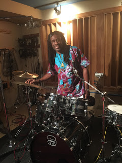 Drummer Will Calhoun of Living Colour at Threshold Recording Studios NYC