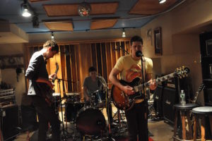 Band in studio at Threshold Recording Studios NYC