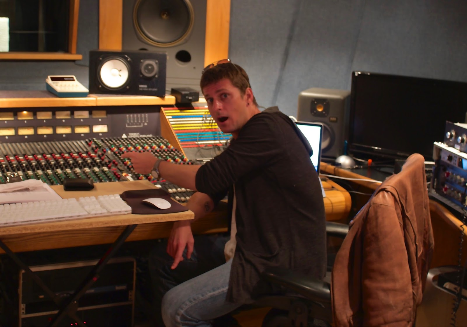 Rob Thomas at Threshold Recording Studios NYC