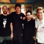 Duran Duran at Threshold Recording Studios NYC with owner James Walsh