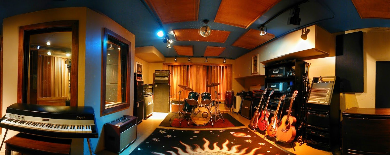 Live Room At Threshold Recording Studios NYC Manhattan