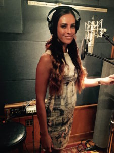Singer in Booth Threshold Recording Studios NYC
