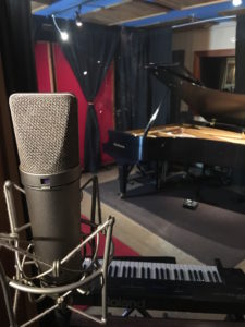 Threshold Recording Studios NYC Vocal Booth Mic Facing Piano