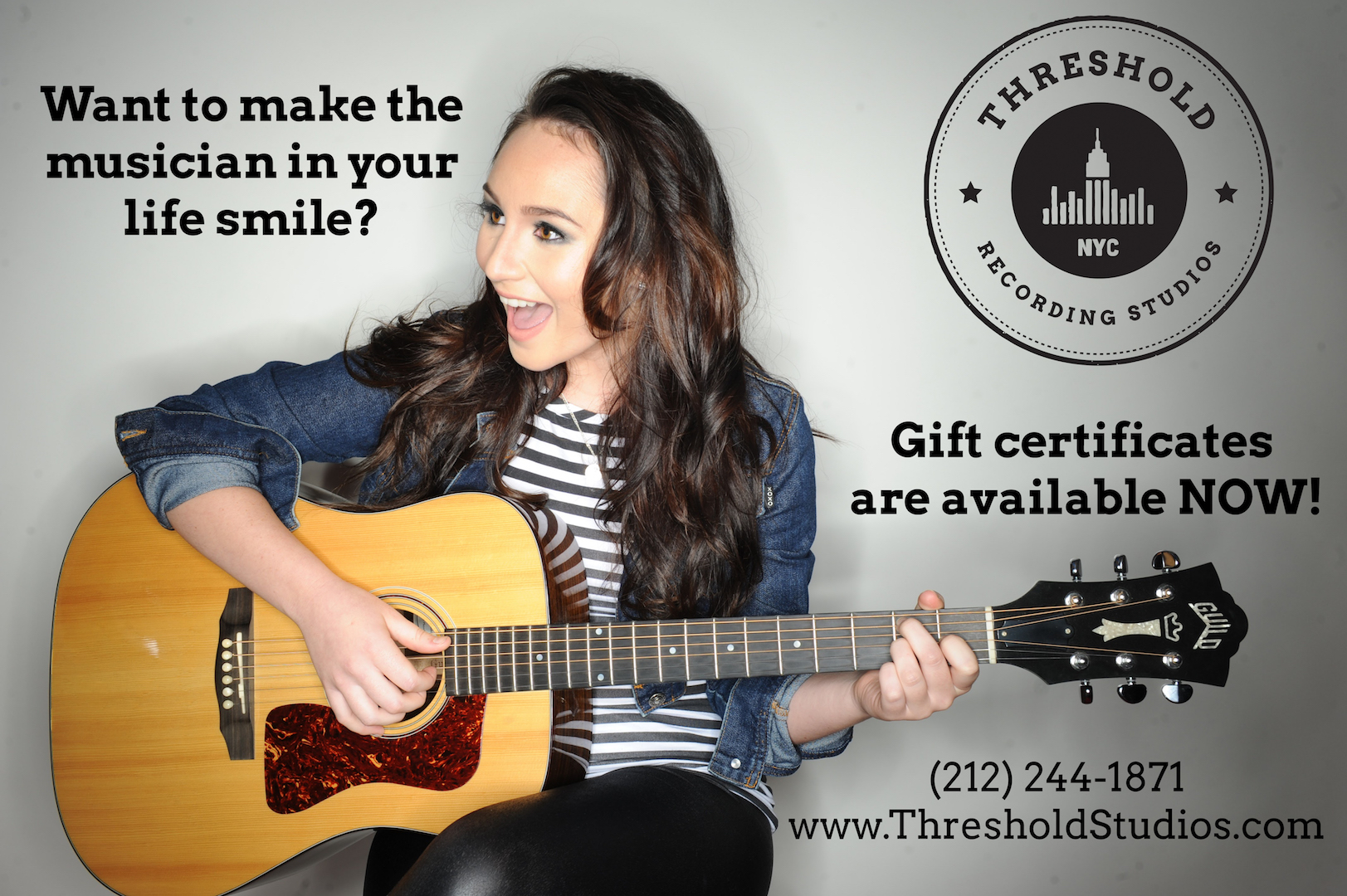 Threshold Recording Studios NYC Gift Certificates